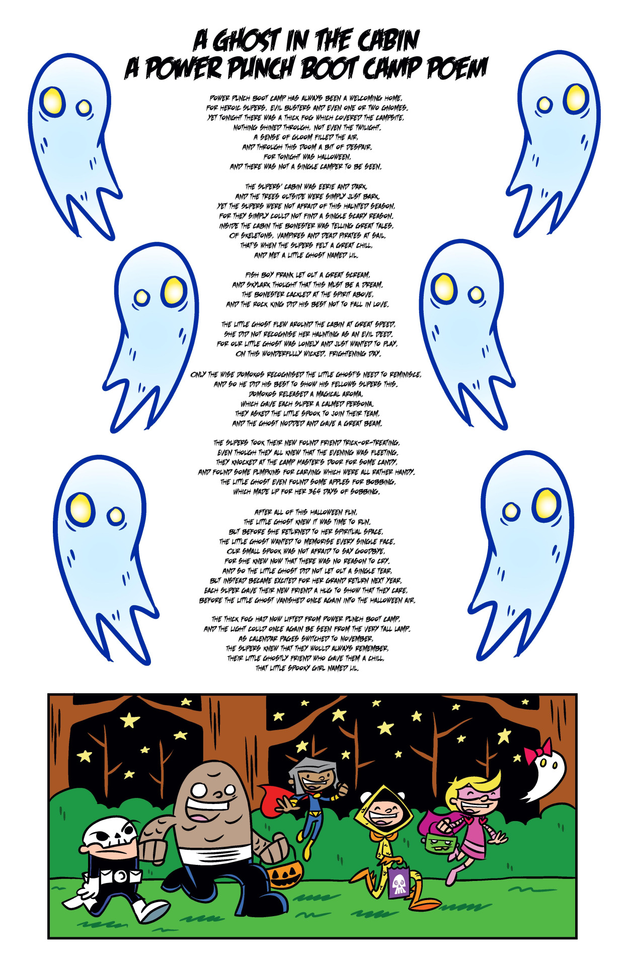 A Ghost in the Cabin! - A Halloween Poem!
